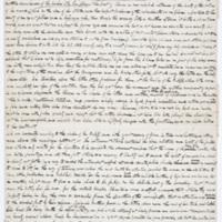 Fragment of Cooper's manuscript,&nbsp;<em>The Headsman</em>
