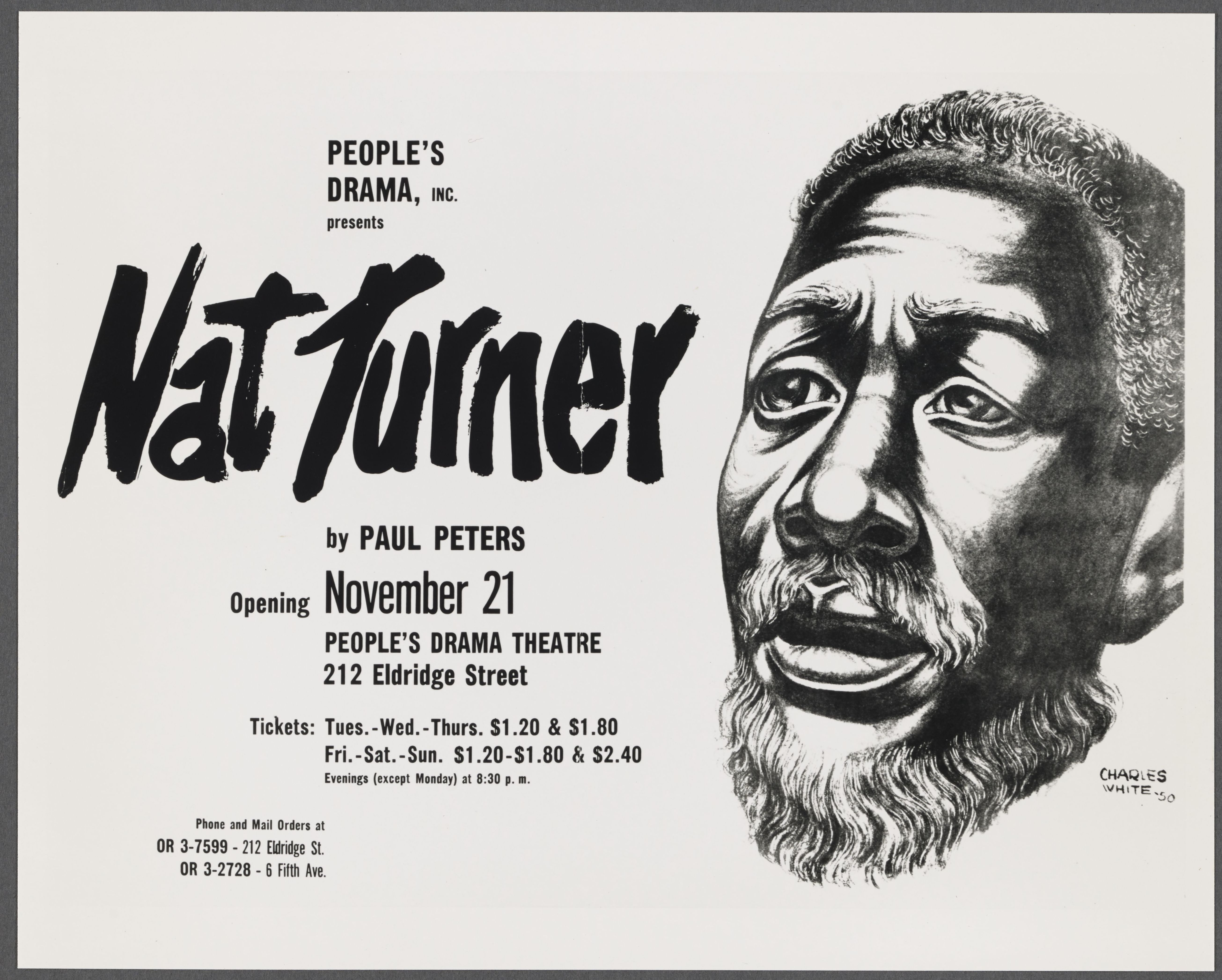 people s drama inc presents nat turner by paul peters revisiting