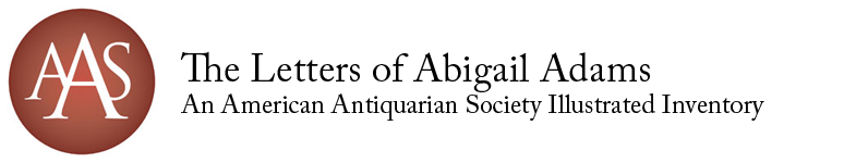 Illustrated inventory of Abigail Adams' letters