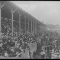 View of the stands at the New England Fair, Worcester