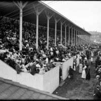 Crowds in the stands at New England Fair, Worcester