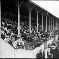 View of the stands at the New England Fair