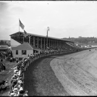 View of the race track at the New England Fair, Worcester