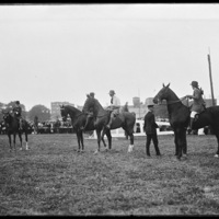 Horseback riders at New England Fair, Worcester