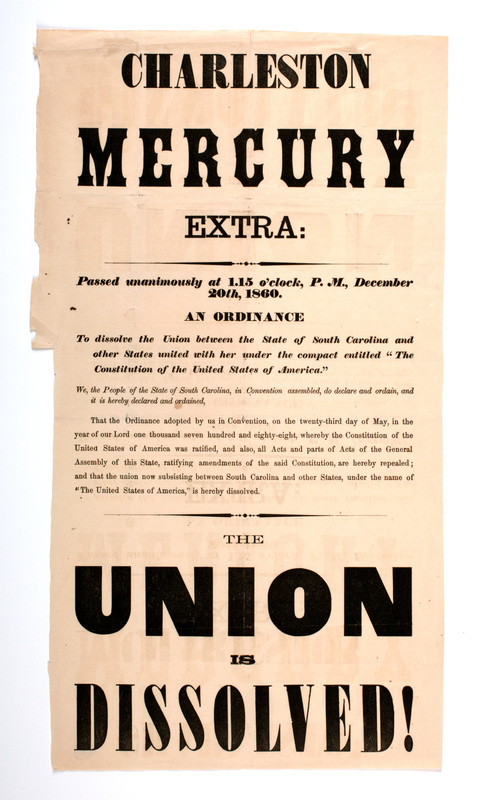 Charleston Mercury Extra - The Union is Dissolved.jpg