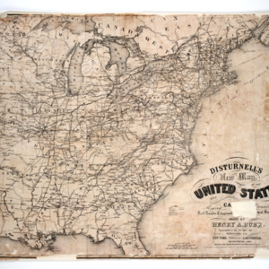 Disturnell's New Map of the United States and Canada; Showing All the Canals, Rail Roads, Telegraph Lines and Principal Stage Routes