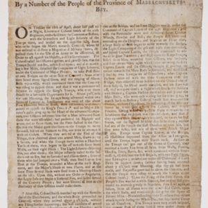A Circumstantial Account Of an Attack that happened on the 19th of April 1775, on his Majesty's Troops