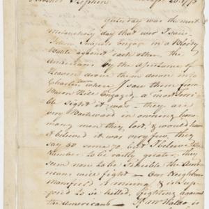 Letter from Samuel Salisbury to Stephen Salisbury, April 20, 1775