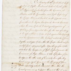 Fair copy of the Circumstantial Account sent to Gov. Trumbull of Connecticut