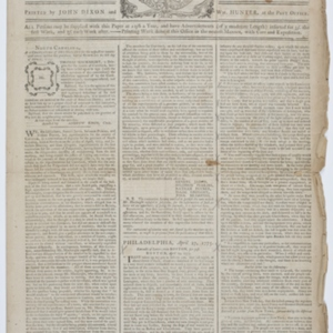 """""""PHILADELPHIA, April 27, 1775. Extracts of Letters from BOSTON, per post."""""""