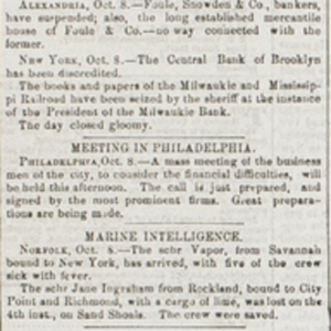 """News by Telegraph. Finance at New Orleans."""
