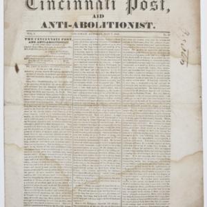 Cincinnati Post and Anti-Abolitionist
