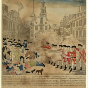 The Bloody Massacre perpetrated in King - Street Boston on March 5th 1770 by a party of the 29th Regt.