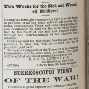 Advertisements for stereographs