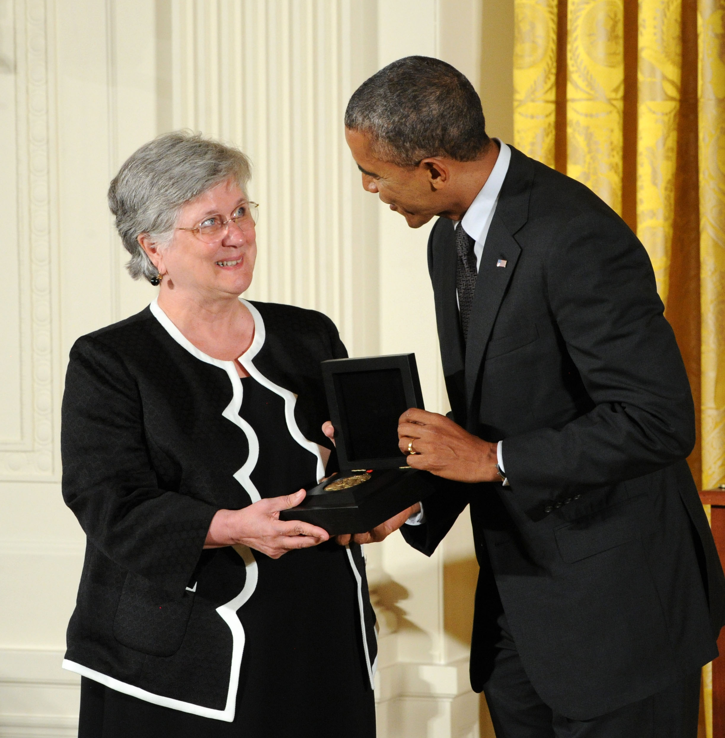 Ellen Dunlap and President Barack Obama