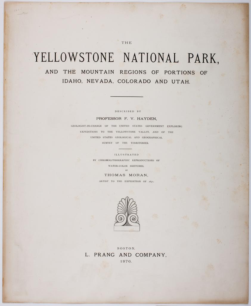 the yellowstone national park and the mountain regions of