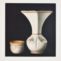 Plate C. Satsuma vase and teacup