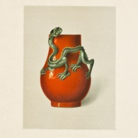 Plate XXXII. Red vase with green dragon