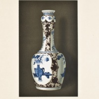 Plate LXII. Blue and white vase with colors