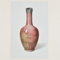 "Plate LII. ""Peach-bloom"" vase with foliated base"