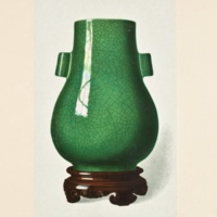 Plate LXXIX. Iridescent emerald-green crackle vase