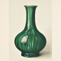 Plate LXXXI. Crackled green vase.
