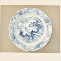 Plate LXIX. K'ang-Hsi blue and white dragon plate
