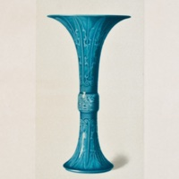 Plate XLIV. Etched turquoise beaker