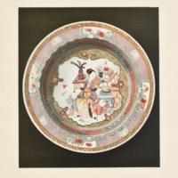 Plate X. Seven-bordered eggshell plate.