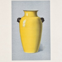 Plate LXXXVII. Crackled yellow vase.