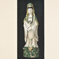Plate LX. Decorated figure of Kuan Yin.