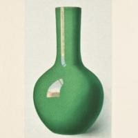 Plate XXVII. Crackled green vase