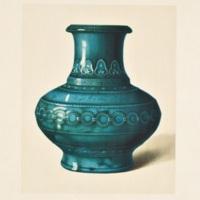 Plate LXXXIV. Turquoise crackle vase