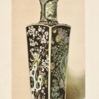 Plate IX. Enameled vase with black ground.