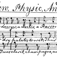 "Sheet Music for ""Law, Physic, And Divinity"""