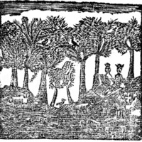 Woodcut for The Country 'squire: : together with How stands the glass
