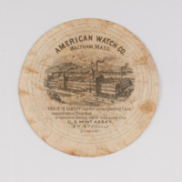American Watch Co. Waltham, Mass. This is to certify that the accompanying case stamped with our trade mark.