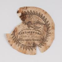 John S. Blackford watch paper.