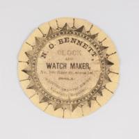Nathaniel O. Bennett watch paper.