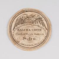 Balch & Smith clock & watch maker Salem.