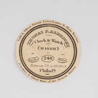 Thomas F. Albright clock & watch maker 246 Market Street.