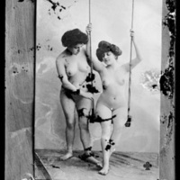 Photograph of a Photograph of Two Nude Women