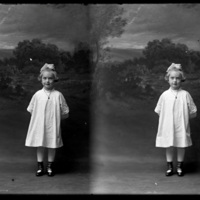 Two exposures of unknown girl