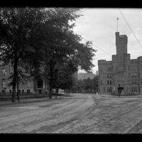 Armory, corner of Grove and Salisbury streets